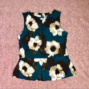 Floral peplum blouse! Work top, very classy.